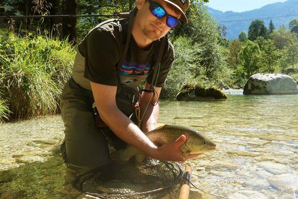 Рыбалка в Словении на реке Соча (Кобарид)