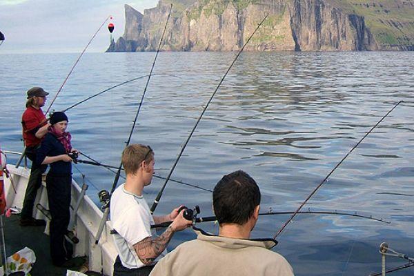 Морская рыбалка на Фарерских островах, Дания