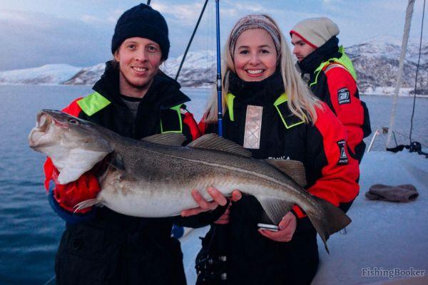 Трофейная рыбалка на крайнем севере Норвегии
